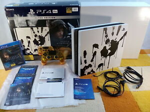 Sony Playstation 4 Pro 1TB Death Stranding Limited Edition CUH-7216B + OVP !!