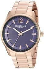 Kenneth Cole New York Mens Rose Gold Tone Stainless Steel Watch KC50688005
