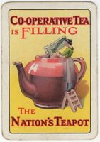 Playing Cards 1 Single Card Old Wide CO-OPERATIVE TEA Advertising Teapot LADY 2