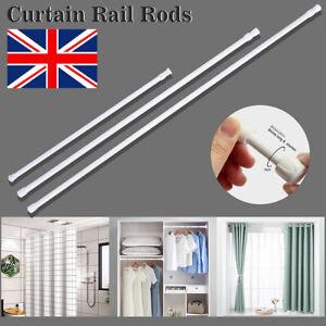 Telescopic Wardrobe Rod Curtain Rod Spring Loaded Net Voile Tension Curtain Rail