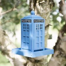 Hanging Blue Police Call Box Bird Feeder Dr Who Tardis Novelty Feeding Station
