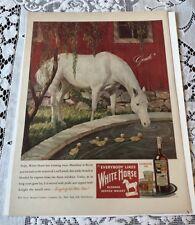 Vintage 1946 White Horse Scotch Whiskey Paper Advertisment
