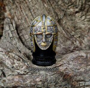 Decorative 7cm Sutton Hoo Helmet Resin Model, Anglo Saxon, Viking, Pagan Gift