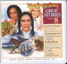 New YOUR STORY HOUR GREAT STORIES Volume 8  6 CDs Audio Set Christian Homeschool