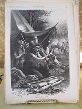 Vintage Print,INDIAN TOILET#3,Native American,Harpers,August 1876