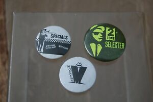 Vintage Madness, Specials & Selector Badges. 2 Tone Ska.