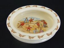 Vintage Royal Doulton Bunnykins Baby Plate Oval Getting Dressed  c 1959