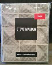 Steve Madden 4 Piece Twin Sheet Set Tan and Black