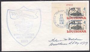 USA 1963 USCG CUTTER NORTHWIND COVER BERING SEA PATROL ARCTIC CRUISE