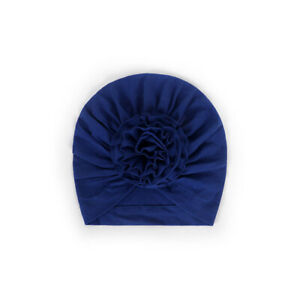 Baby Turban Hat Floral Bow Cotton Turban Beanie Hat For Kids Baby Hair Accessory