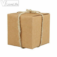 10pcs Candy Boxes Kraft Boxes Wedding Party Favors Box Gift Box Bags Decor 5cm
