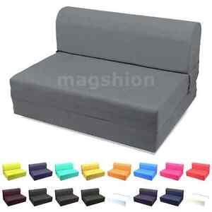 "Dark Gray Foam Seat Mattress Sleeper Chair Folding Bed Kid Bed Wide: 23""/36""/46"""