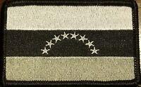 VENEZUELA Flag Patch W/ VELCRO® Brand Fastener Tactical  Morale Gray Version #1