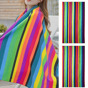 Striped Extra Large Microfibre Lightweight Beach Towel Quick Dry Rainbow Towels