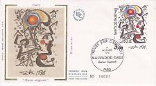 Enveloppe maximum 1er jour FDC Soie 1979 Salvator Dali Oeuvre Originale