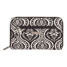 "Bella Taylor DAHLIA Signature Zip Wallet W8""xH4.75""xD0.75"" Black/White NWT"