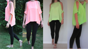 Women's Blouse Cold Shoulder Short Sleeve Summer Casual Top Size S-XL
