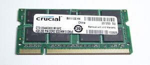 Single piece 4gb DDR2 PC2-6400 laptop sodimm Crucial CT51264AC800 - UK stock -