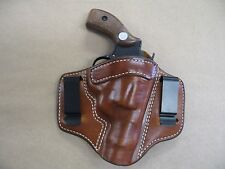Colt Agent Revolver 2 Clip IWB Leather Concealed Carry Holster CCW TAN RH