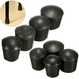 4Pcs Plastic Furniture Table Chair Leg Floor Feet Cap Cover Protector Black