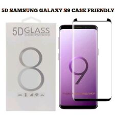 Full Cover 5D Tempered Glass Screen Protector Samsung Galaxy S9 [Case Friendly]