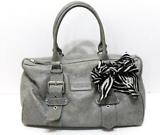 Longchamp, Sac Kate Moss, boston 35, en cuir grainé gris