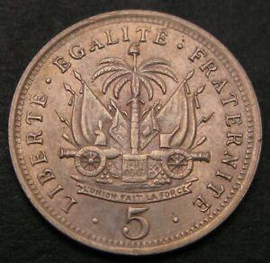 HAITI 5 Centimes 1904 (w) - Copper/Nickel - XF - 1139