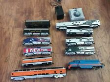 RARE HO BACHMANN NFL NEW YORK JETS & GIANTS LOCOMOTIVE F7A & F7B ENGINE AND CARS
