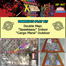 "HEROCLIX DEADPOOL & X-FORCE OP KIT -Double Mapa/Map ""Speakeasy"" / ""Cargo Plane"""