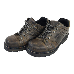 Dr Martens Everett Brown 6 Eye Leather Oxford Work Shoes Men's 10M AW004