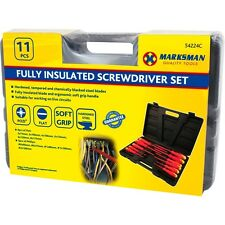 11PCS ELECTRICIANS INSULATED SCREWDRIVER SET TOOL ELECTRICAL FULLY KIT CASE 224