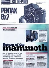 Amateur Photography  Magazine Camera  Test , Pentax 6x7 Takumar 105mm & 6x7 mk11
