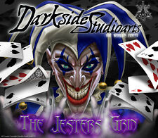 "YAMAHA APEX 2006-2010 HOOD SIDE PANEL DECALS GRAPHICS WRAP ""THE JESTERS GRIN"""