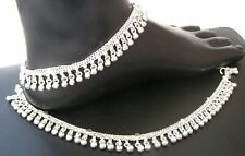 Handmade PURE  FINE Silver Anklet Pair Indian Payal  FREE SHIPPING  A2