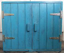 Turchese legno massello armadio a muro ARGENTO CERNIERE Shabby Chic Fatto a mano