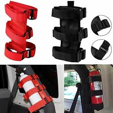 Car Roll Bars Fire Extinguisher Holder Strap Secure Hook Fixed For Jeep Wrangler
