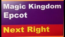 "Walt Disney World Road Sign Inspired Magnet 2"" X 3.5""  Magic Kingdom, Epcot"
