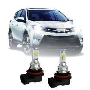 2PCS For Toyota RAV4 MK3 100w Super White Xenon LED Low Dip Beam Headlight Bulbs