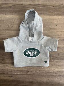 Build a Bear NFL New York Jets Football Team Jersey Shirt NWT Grey Big Logo