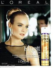 PUBLICITE ADVERTISING 076  2010  L'Oréal laque Elnett Diane Kruger festival Cann