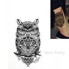 1 Sheet Large Arm Fake Transfer Waterproof Temporary Tattoo Sticker Owl Decals