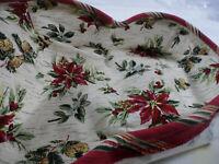 ***Longaberger Napkin Basket Liner - Holiday Botanical