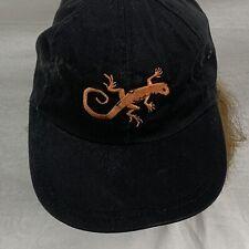 Pepe Lopez Geko Strap Back Hat Cap Cordory Feel Black One Size Fits All