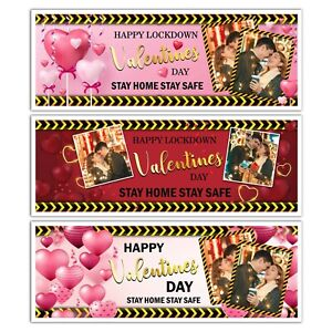 PERSONALISED LOCKDOWN VALENTIN'S DAY PHOTO COUPLE LOVE BANNER WALL DECORATIONS