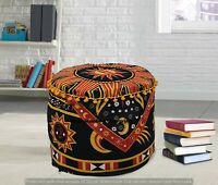 Mandala Indian Ottomans Throw Round Floor Footstools Seating Poufs Cover Decor