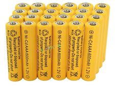 24AAA Rechargeable Batteries NiCd 600mAh 1.2v Garden Solar Ni-mh Light Nimh Lamp