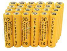 24AAA Rechargeable Batteries NiCd 600mAh 1.2v Garden Solar Ni-mh Light Nimh Lamp