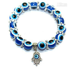 Evil Eye Hamsa Beaded Bracelet With Hand Of Fatima Charm
