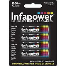 Infapower Recargable Aa Ni-mh Multi Uso Baterías 1,2 v 1300mah 4 Pack New