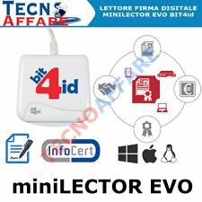 Lettore Smart Card Firma Digitale Tessera Sanitaria CNS BIT4id Minilector Evo